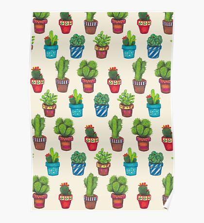 Cactus Pot Plant Garden Poster