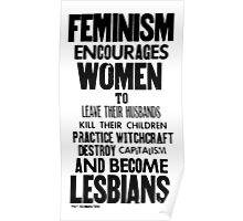 Feminism in Black & White Poster