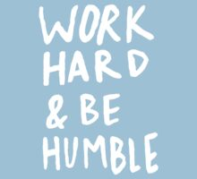 Work Hard and Be Humble x Mint One Piece - Short Sleeve