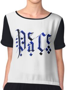 Calligraphy Peace Chiffon Top