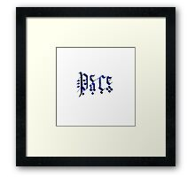 Calligraphy Peace Framed Print