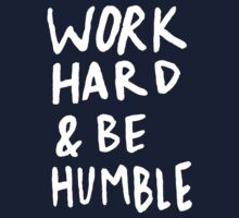 Work Hard and Be Humble x Mustard Kids Tee
