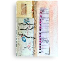 Field Journals of Jebediah Collage ! Canvas Print