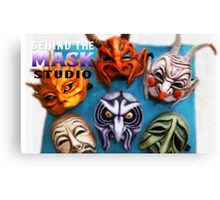 Behind The Mask Studio Works Canvas Print