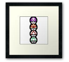 Mushroom Faces Framed Print