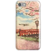 Japanese Cherry Blossom Painting iPhone Case/Skin