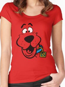 SCOOBY DOO FACE Women's Fitted Scoop T-Shirt