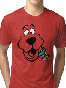 SCOOBY DOO FACE Tri-blend T-Shirt