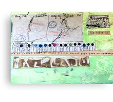 Field Journals of Jebediah Collage 3 Canvas Print