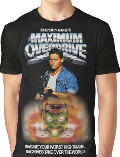 Maximum Overdrive (1986) VHS Poster Graphic T-Shirt