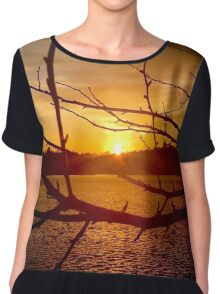 Branches in Sunset Chiffon Top