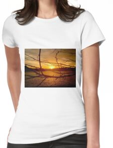 Branches in Sunset Womens Fitted T-Shirt