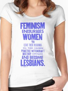Feminism Blue Women's Fitted Scoop T-Shirt