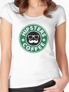 Hipsters Coffee Women's Fitted Scoop T-Shirt