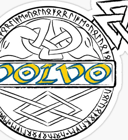 Ancient Volvo Logo Odin Edition with Color Volvo Sticker