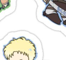 Attack on Titan Annie, Bertl, Reiner Sticker