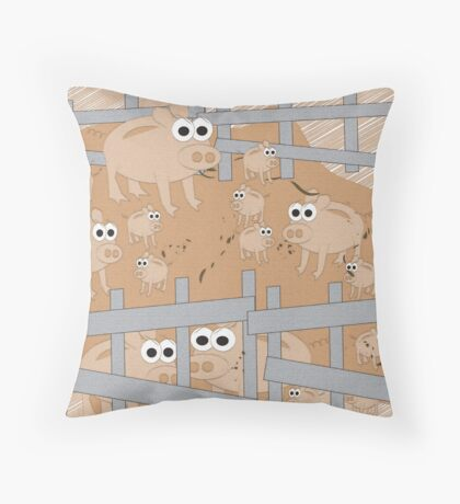 In the Farmyard 3 Throw Pillow