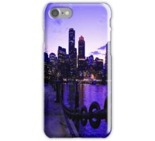 Boston Waterfront at Twilight iPhone Case/Skin