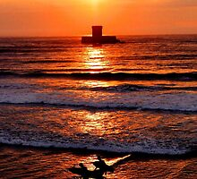 Sunset surfers la Rocco Tower Jersey by Gary Power