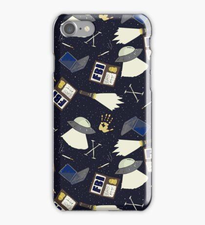 x-files print iPhone Case/Skin