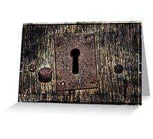 DARK DOOR CARD Greeting Card