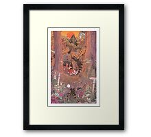 The Rock on Monster Island Framed Print