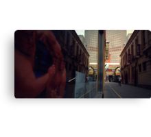 Below The Yellow Line Canvas Print