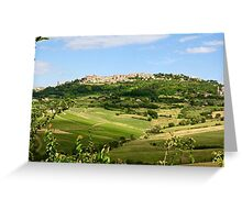Montepulciano on the Hill Greeting Card