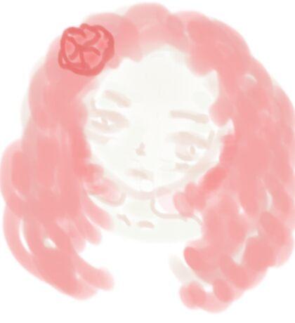 Peachy Girl Sticker