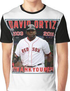Red Sox #THANKYOUPAPI 34 - David Ortiz Graphic T-Shirt