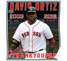 Red Sox #THANKYOUPAPI 34 - David Ortiz Poster