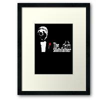 Sloth - The Slothfather godfather parody mashup Framed Print