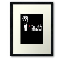 Sloth - The Slothfather godfather parody mashup Framed Print