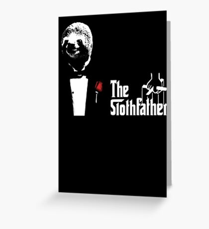 Sloth - The Slothfather godfather parody mashup Greeting Card