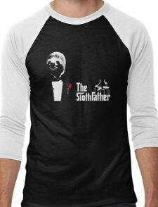 Sloth - The Slothfather godfather parody mashup Men's Baseball ¾ T-Shirt