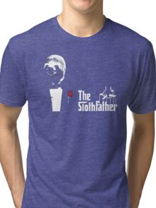 Sloth - The Slothfather godfather parody mashup Tri-blend T-Shirt
