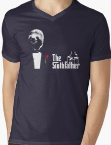Sloth - The Slothfather godfather parody mashup Mens V-Neck T-Shirt