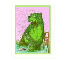 GREEN ALGAE BEAR Art Print