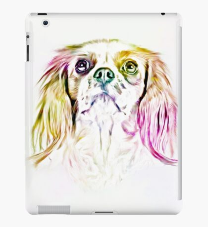 Cavalier King Charles Spaniel Dog Art Painting iPad Case/Skin