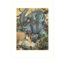 KING OF ALL MONSTERS Art Print