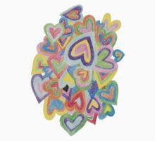 Rainbow Hearts One Piece - Long Sleeve