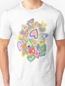 Rainbow Hearts Unisex T-Shirt