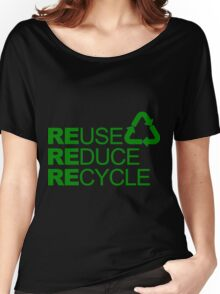 REDUSE REDUCE RECYCLE Women's Relaxed Fit T-Shirt