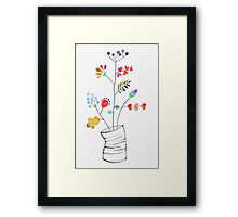 Tin Can Bouquet Framed Print