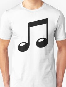 black music note Unisex T-Shirt