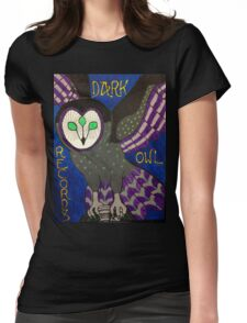 Dark Owl Records Womens Fitted T-Shirt