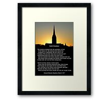 """God's Grandeur"" by Gerard Manley Hopkins, especially good as a card. Framed Print"