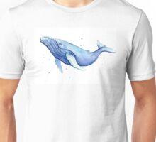 Humpback Whale Blue Watercolor Painting Unisex T-Shirt