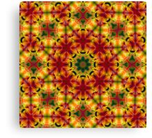 Sunny Bright psychedelic pattern Canvas Print