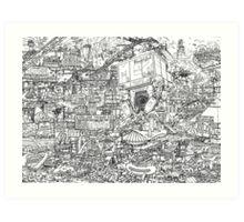 Judge Dredd - Mega City 2 Original Art Reproduction Art Print